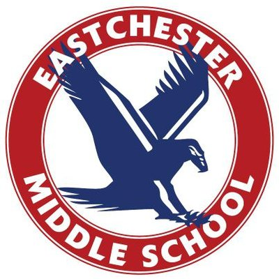 Eastchester Middle School logo - bird in circle that states Eastchester Middle School